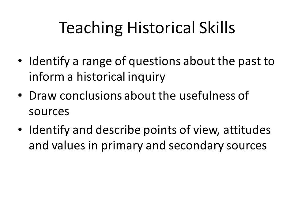 Teaching Historical Skills