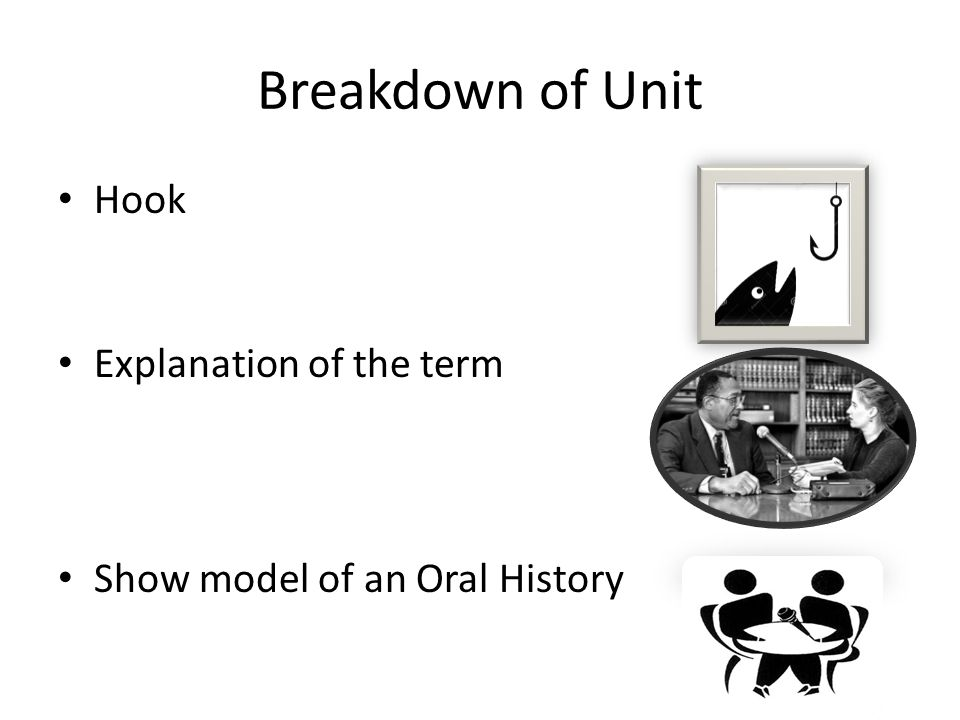 Breakdown of Unit Hook Explanation of the term
