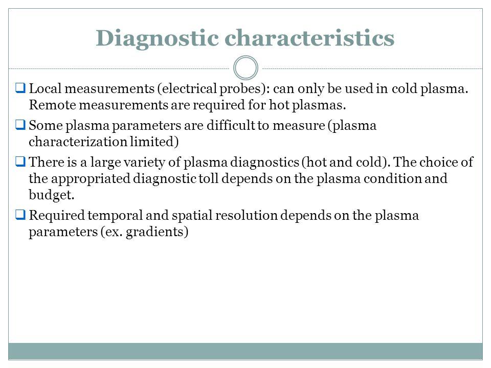Diagnostic characteristics