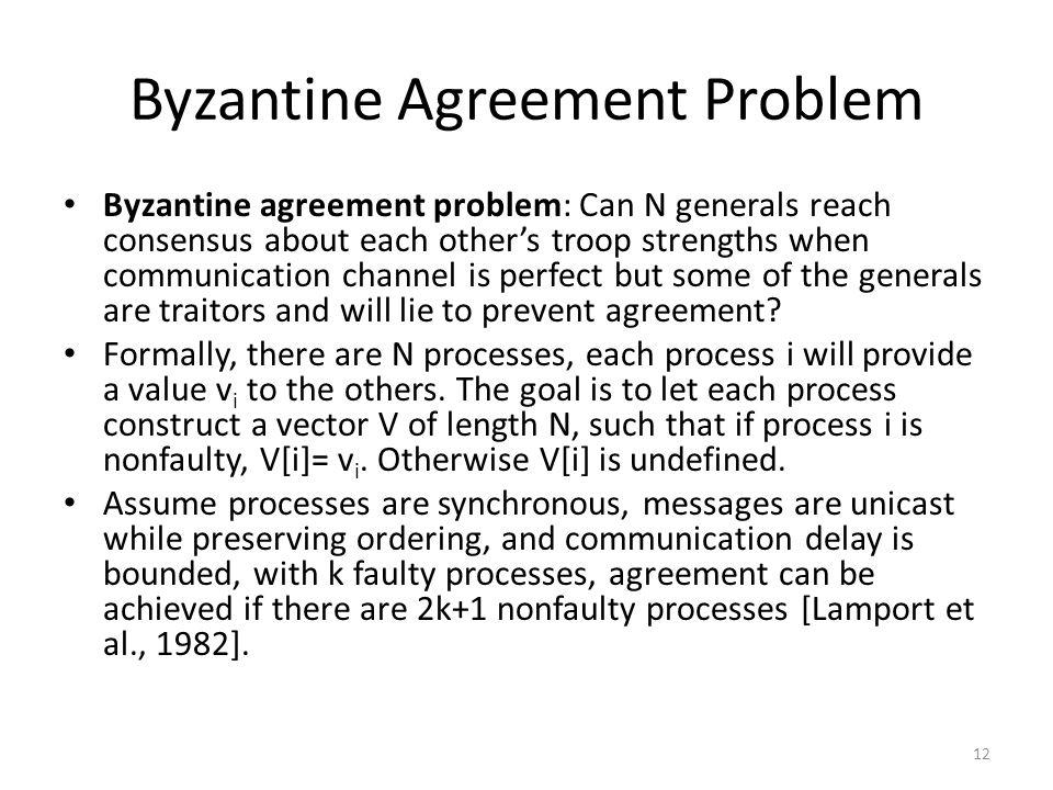 Byzantine Agreement Problem