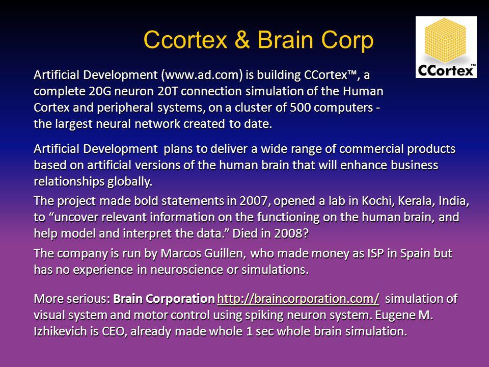 Ccortex & Brain Corp