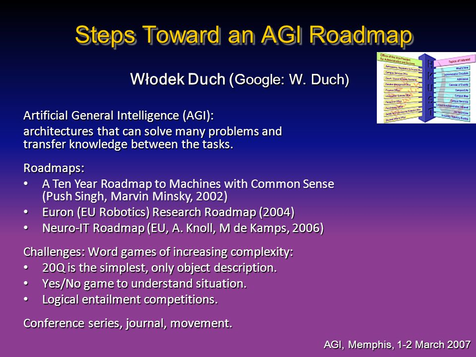 Steps Toward an AGI Roadmap