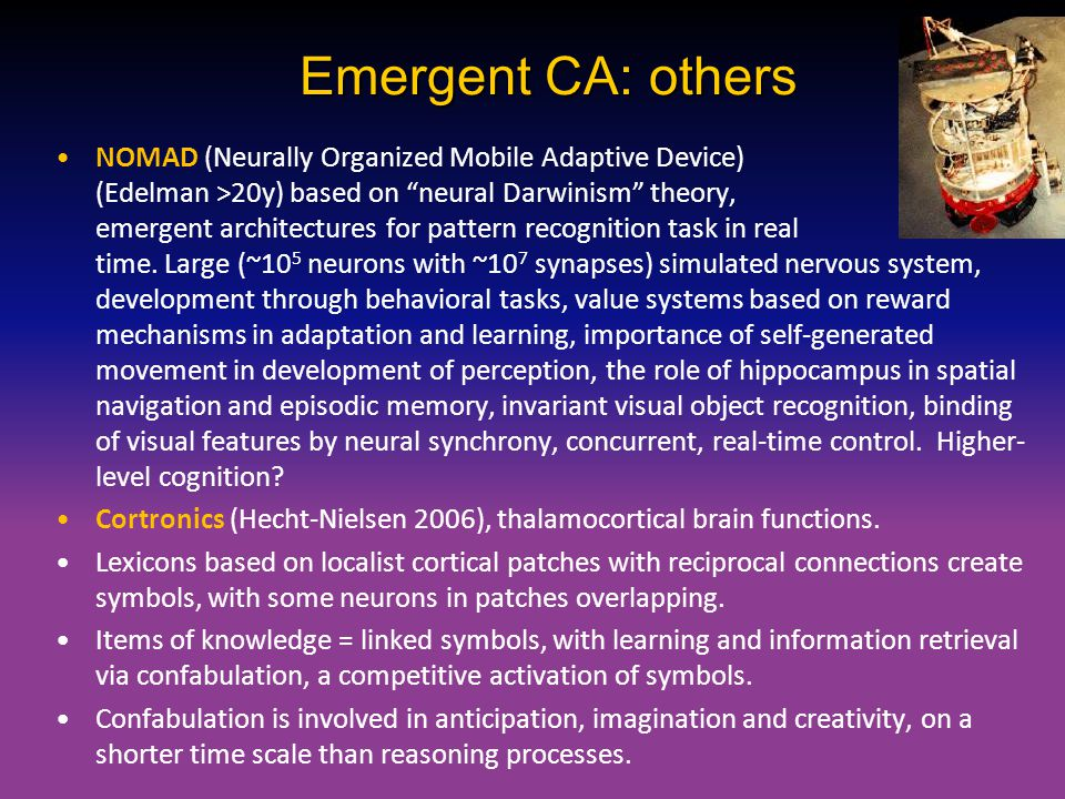 Emergent CA: others
