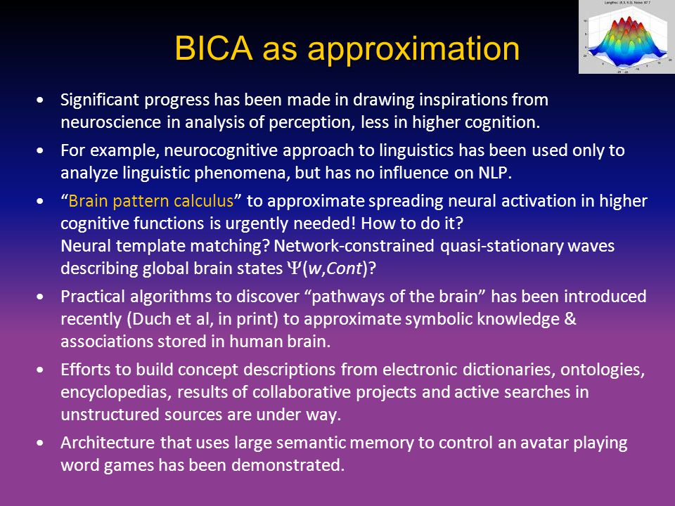 BICA as approximation