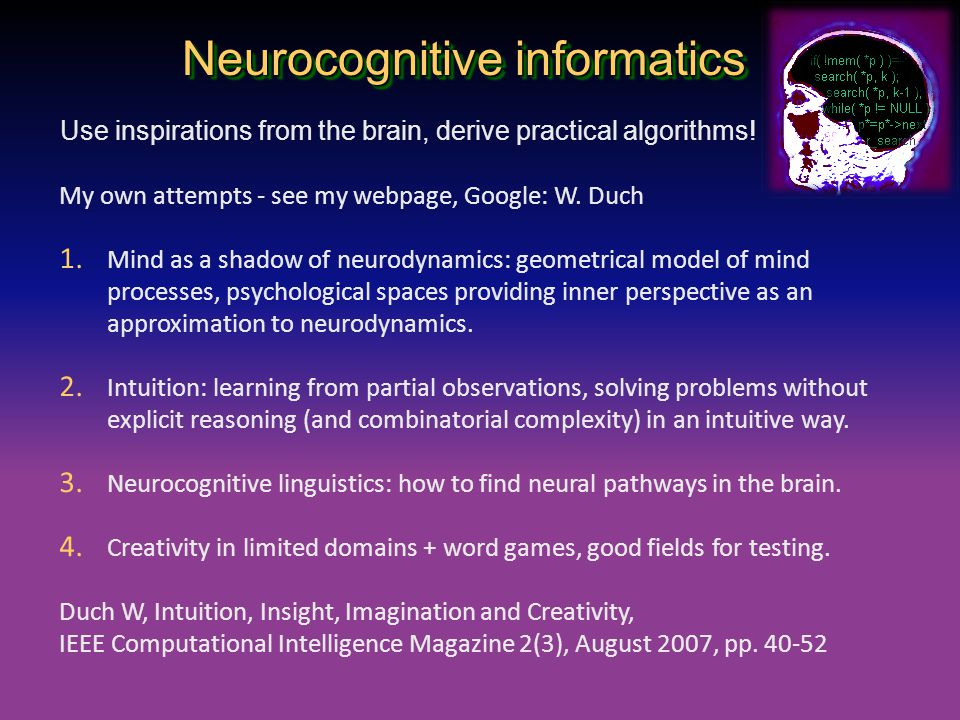 Neurocognitive informatics