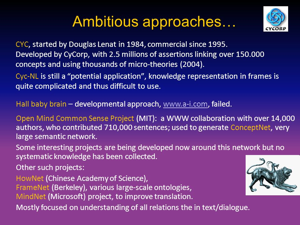 Ambitious approaches…