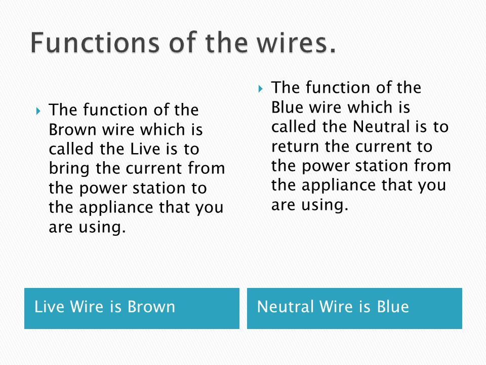 Functions of the wires.