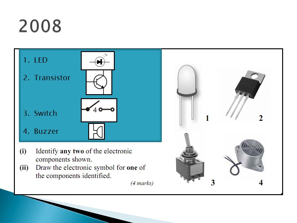 2008 LED Transistor Switch Buzzer
