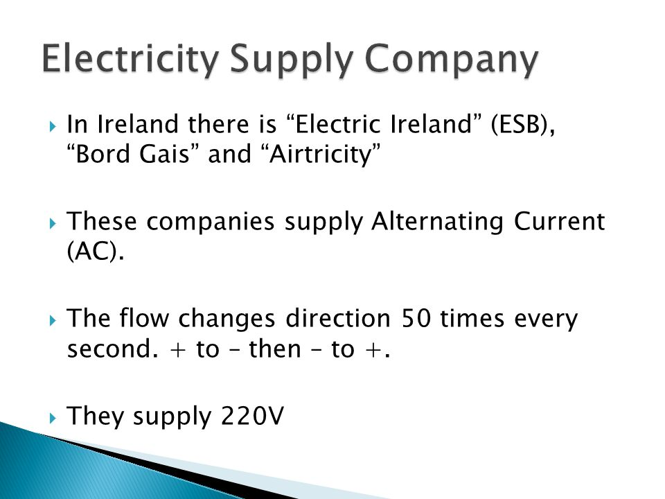 Electricity Supply Company