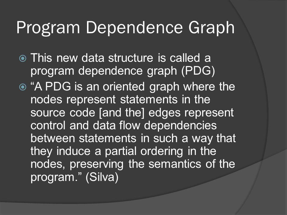 Program Dependence Graph