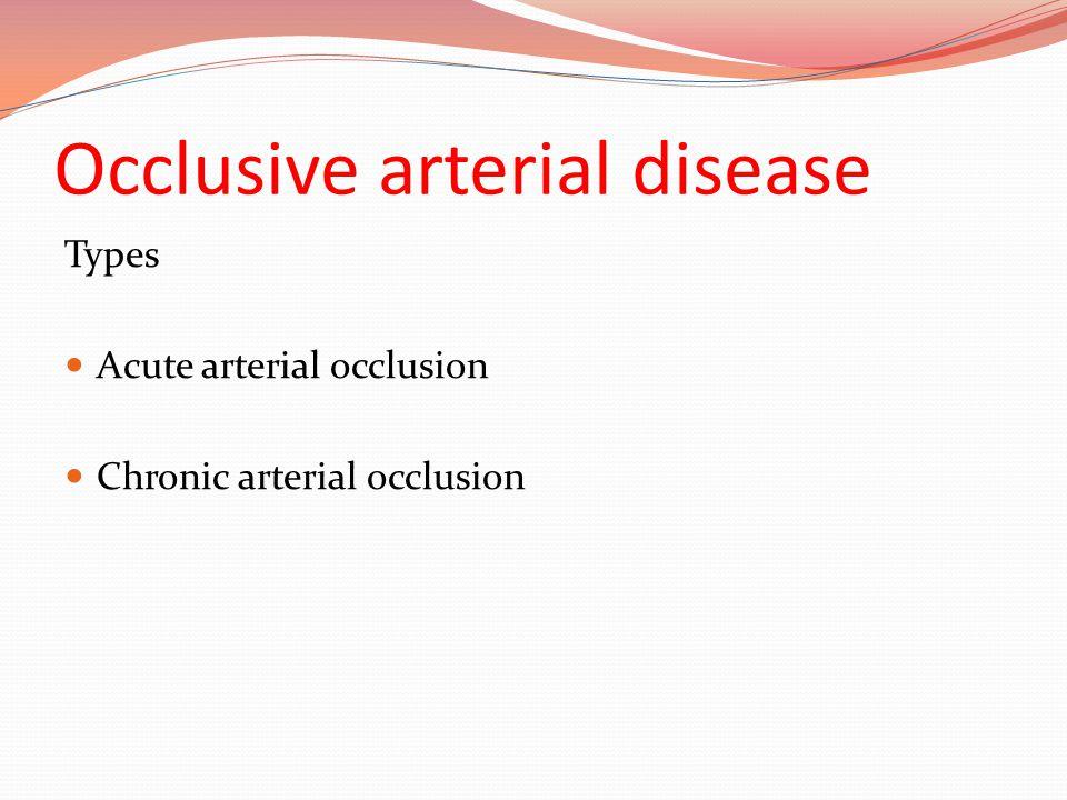 Occlusive arterial disease
