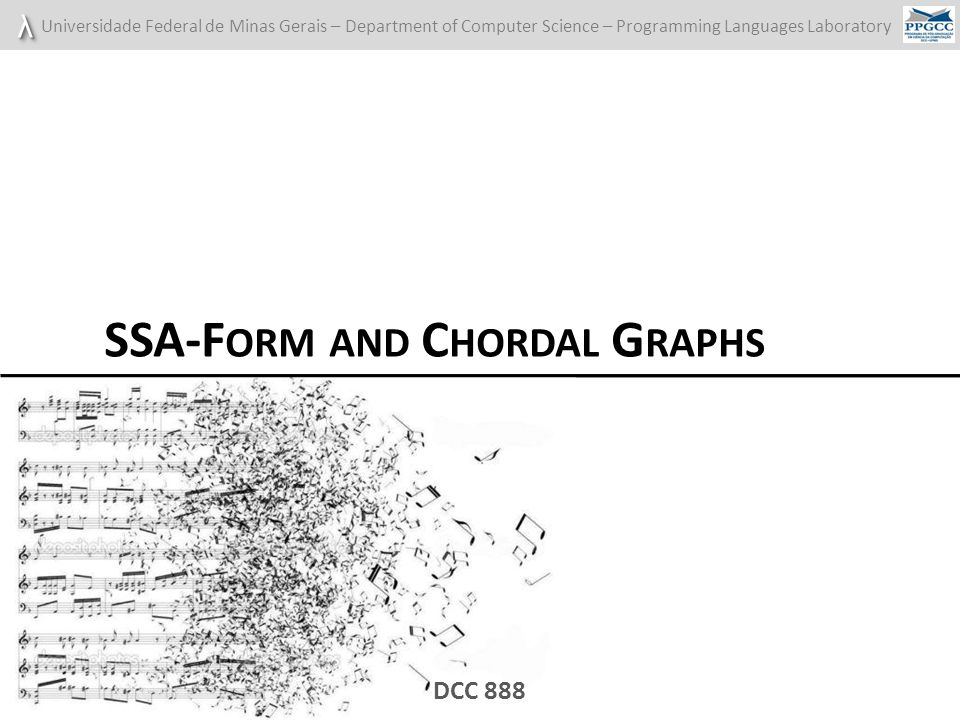 SSA-Form and Chordal Graphs