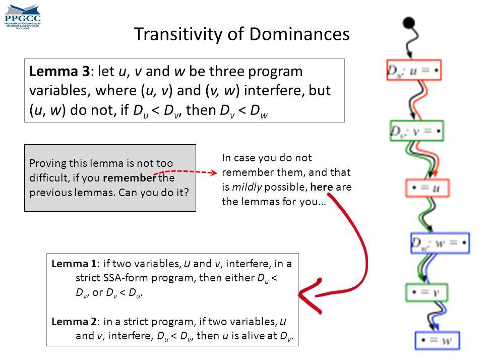 Transitivity of Dominances