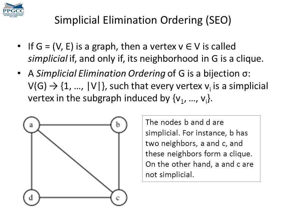 Simplicial Elimination Ordering (SEO)