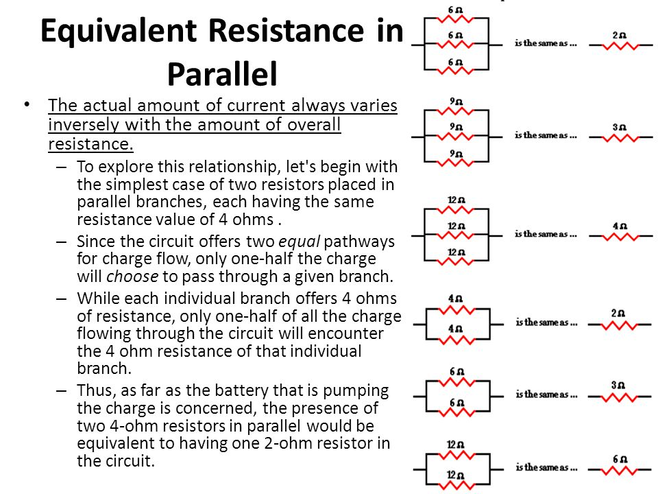 Equivalent Resistance in Parallel