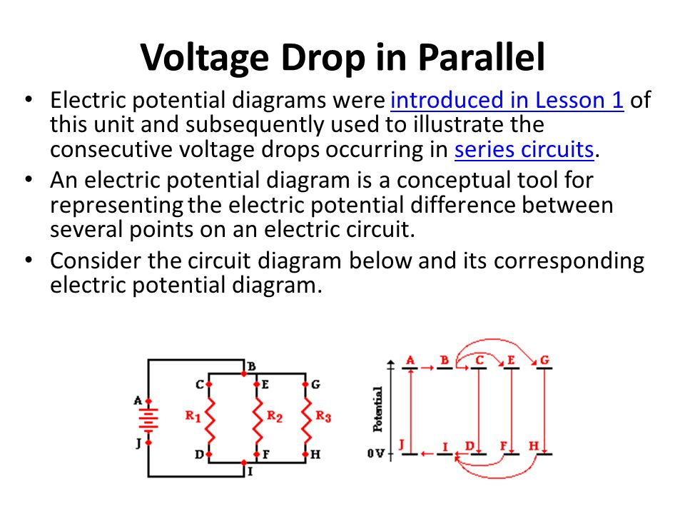 Voltage Drop in Parallel