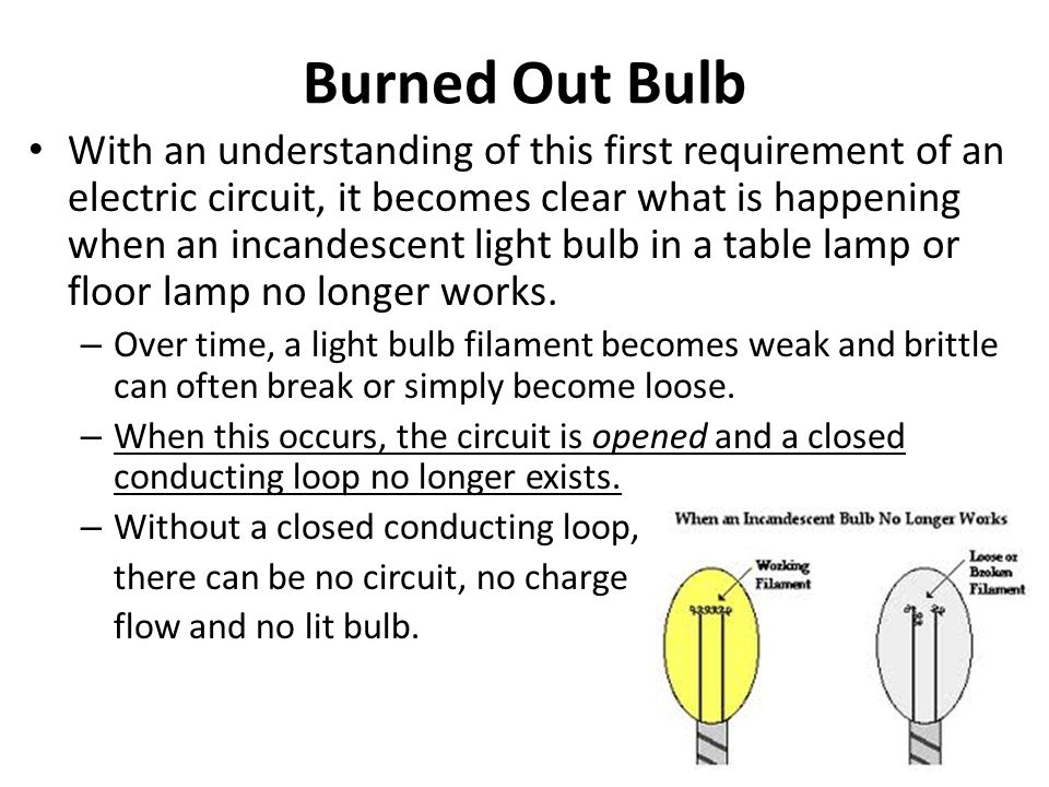 Burned Out Bulb