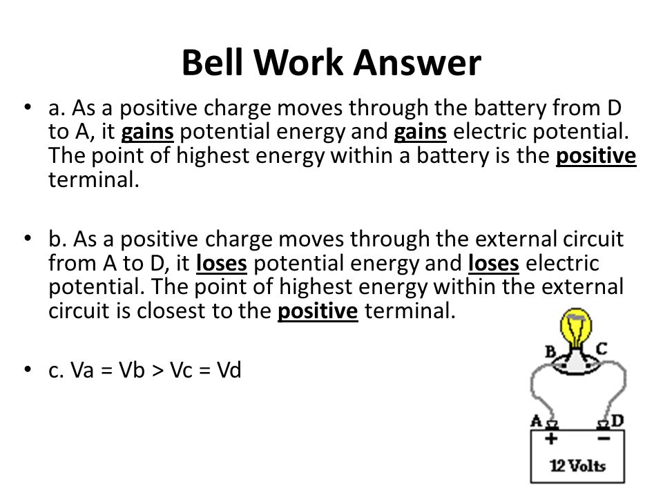 Bell Work Answer