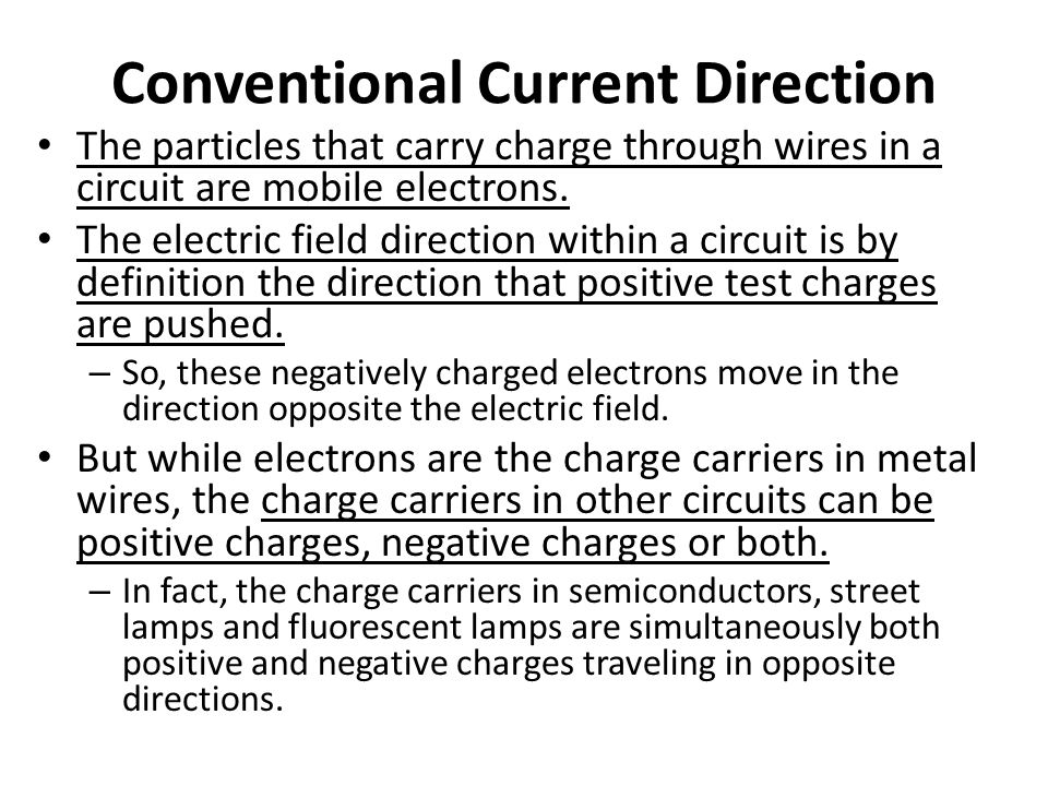 Conventional Current Direction