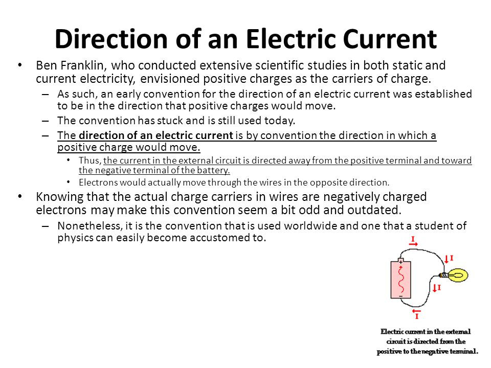 Direction of an Electric Current