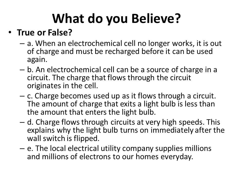 What do you Believe True or False