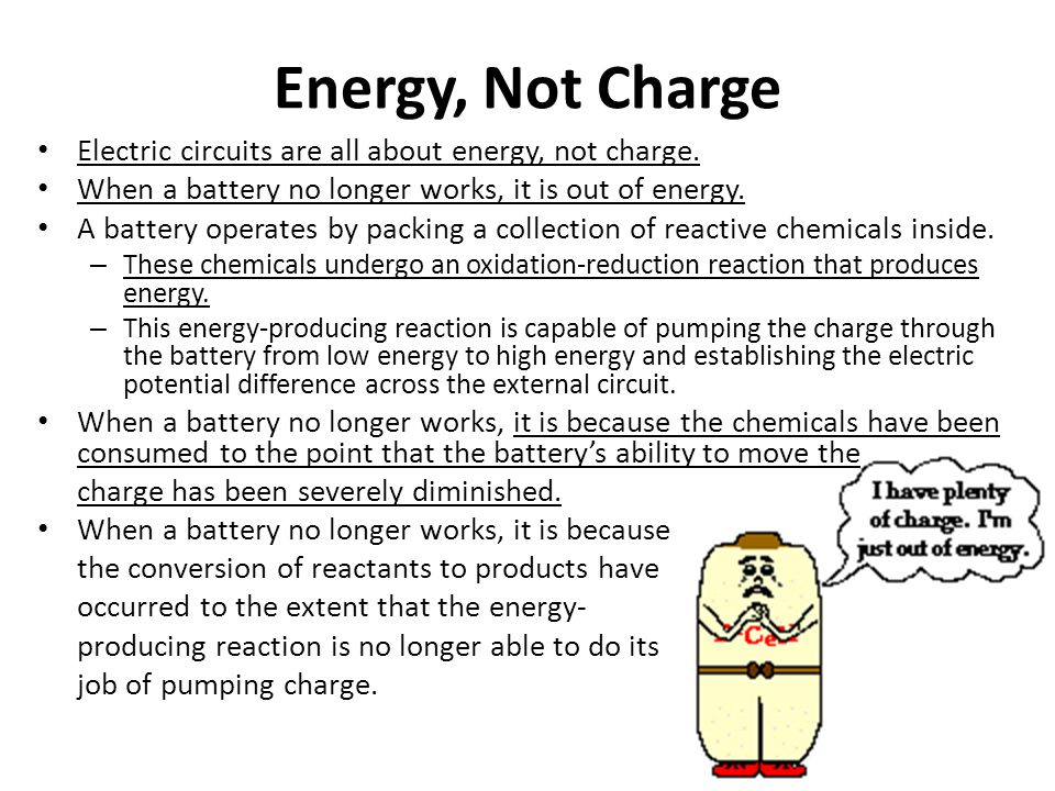 Energy, Not Charge Electric circuits are all about energy, not charge.