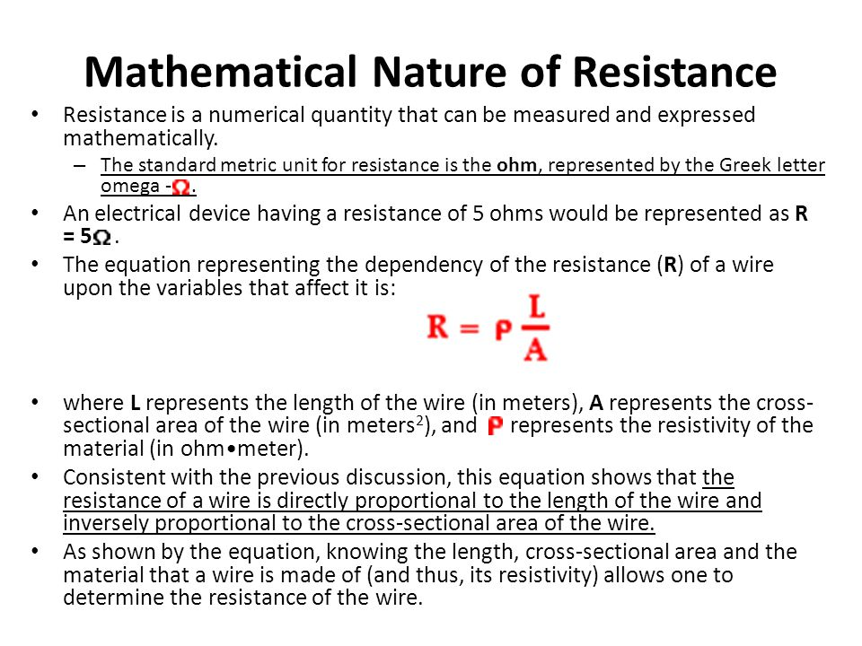 Mathematical Nature of Resistance