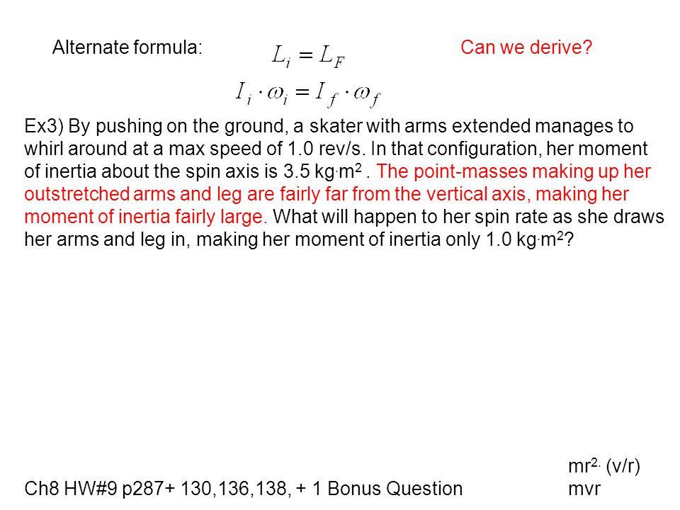 Alternate formula: Can we derive