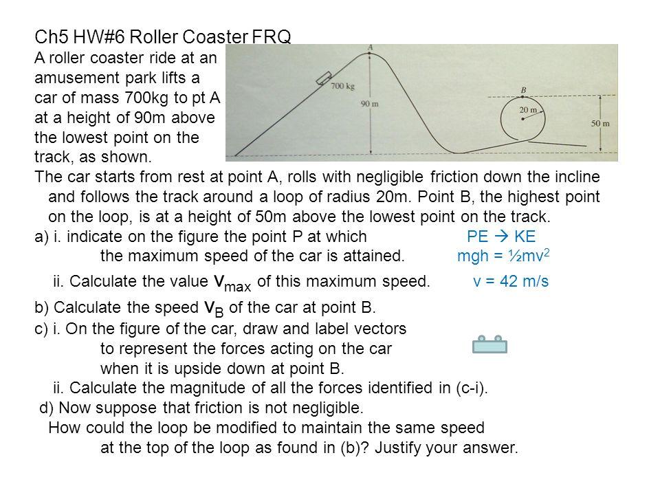 Ch5 HW#6 Roller Coaster FRQ