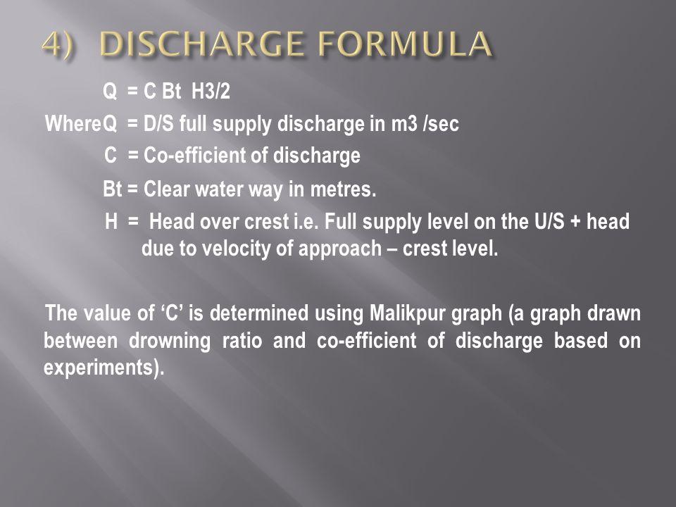 4) DISCHARGE FORMULA