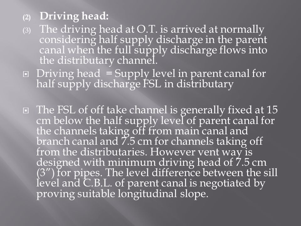 Driving head: