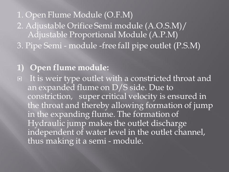1. Open Flume Module (O.F.M)