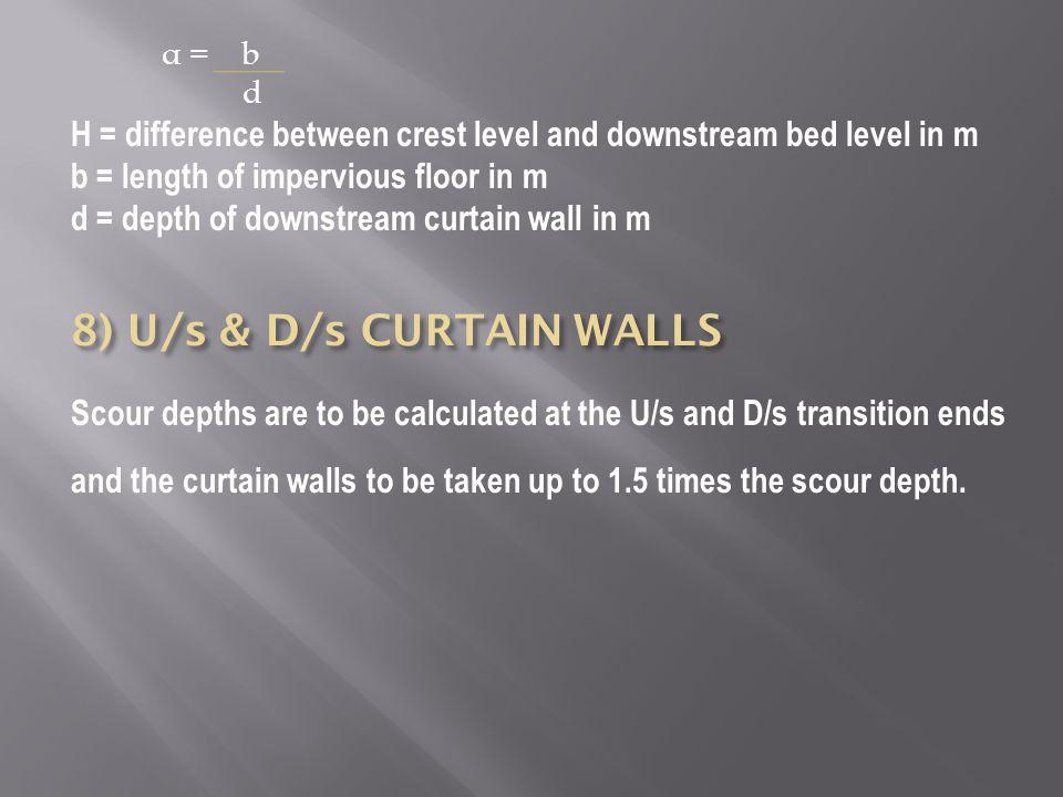 8) U/s & D/s CURTAIN WALLS