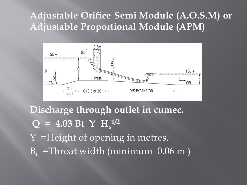 Adjustable Orifice Semi Module (A. O. S