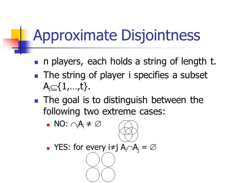 Approximate Disjointness
