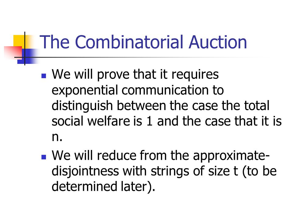 The Combinatorial Auction