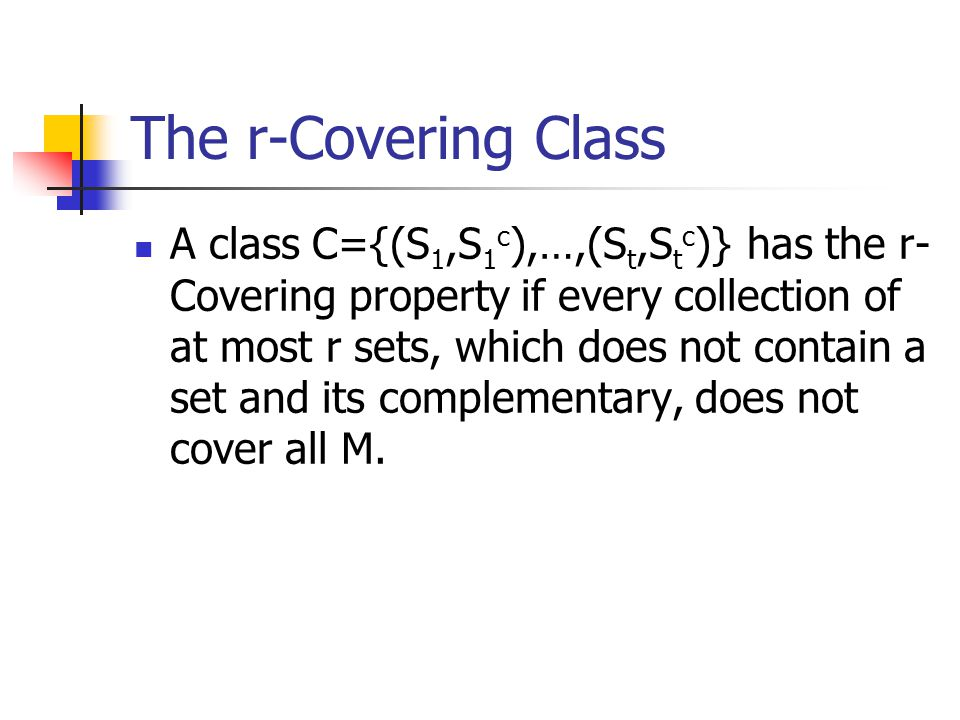 The r-Covering Class