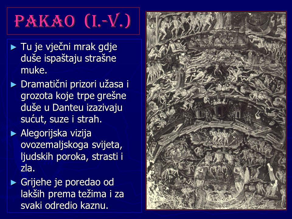 Pakao (I.-V.) Tu je vječni mrak gdje duše ispaštaju strašne muke.