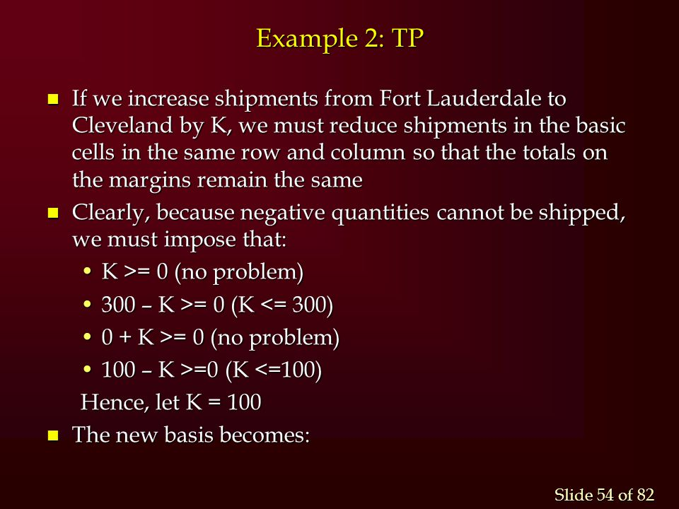 Example 2: TP