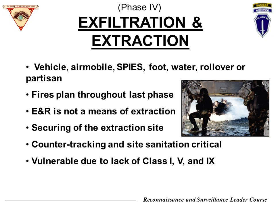 EXFILTRATION & EXTRACTION