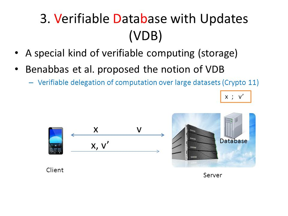 3. Verifiable Database with Updates (VDB)