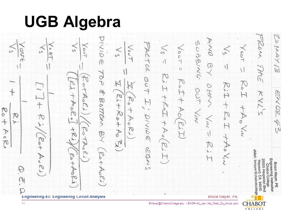 UGB Algebra