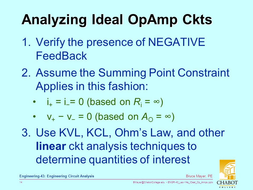 Analyzing Ideal OpAmp Ckts