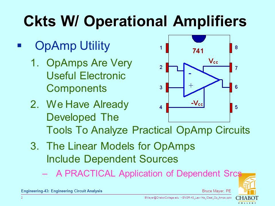 Ckts W/ Operational Amplifiers