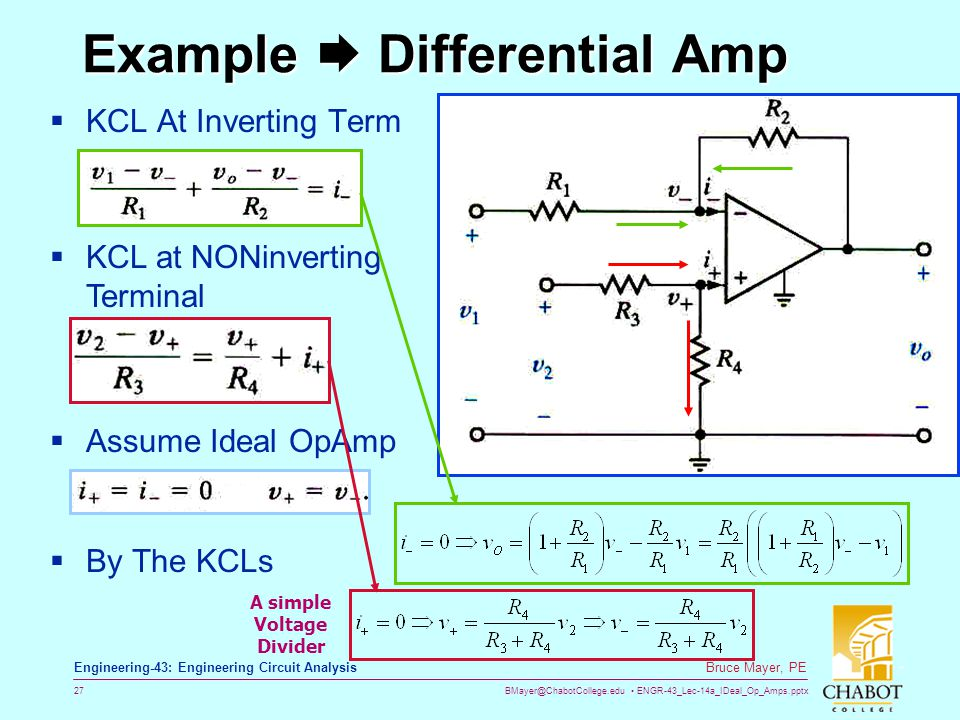 Example  Differential Amp
