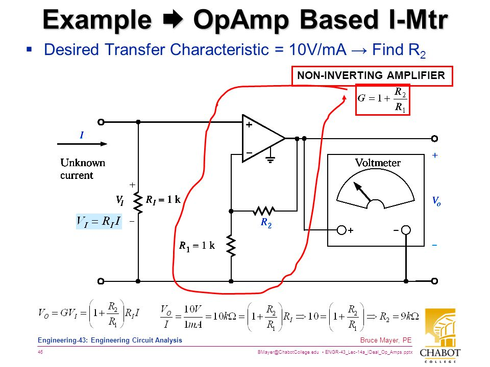 Example  OpAmp Based I-Mtr