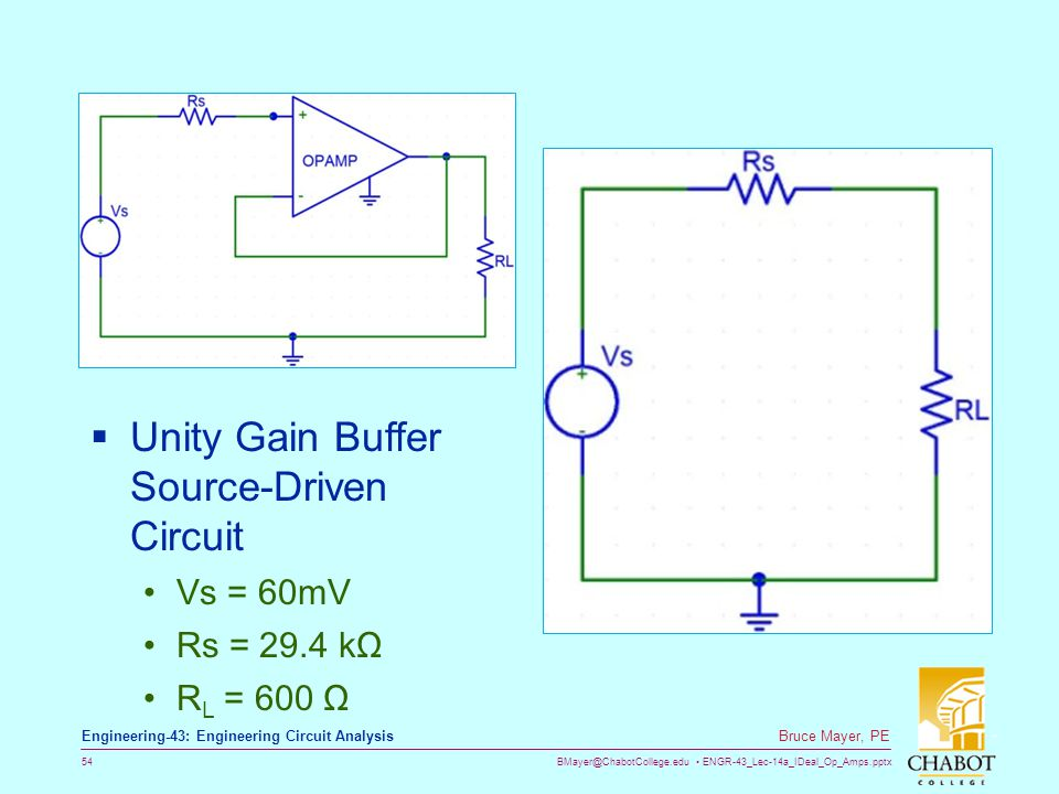 Unity Gain Buffer Source-Driven Circuit