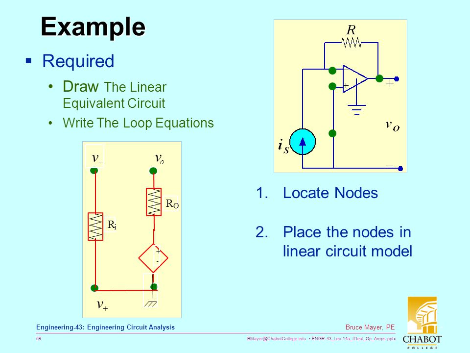 Example Required Draw The Linear Equivalent Circuit Locate Nodes