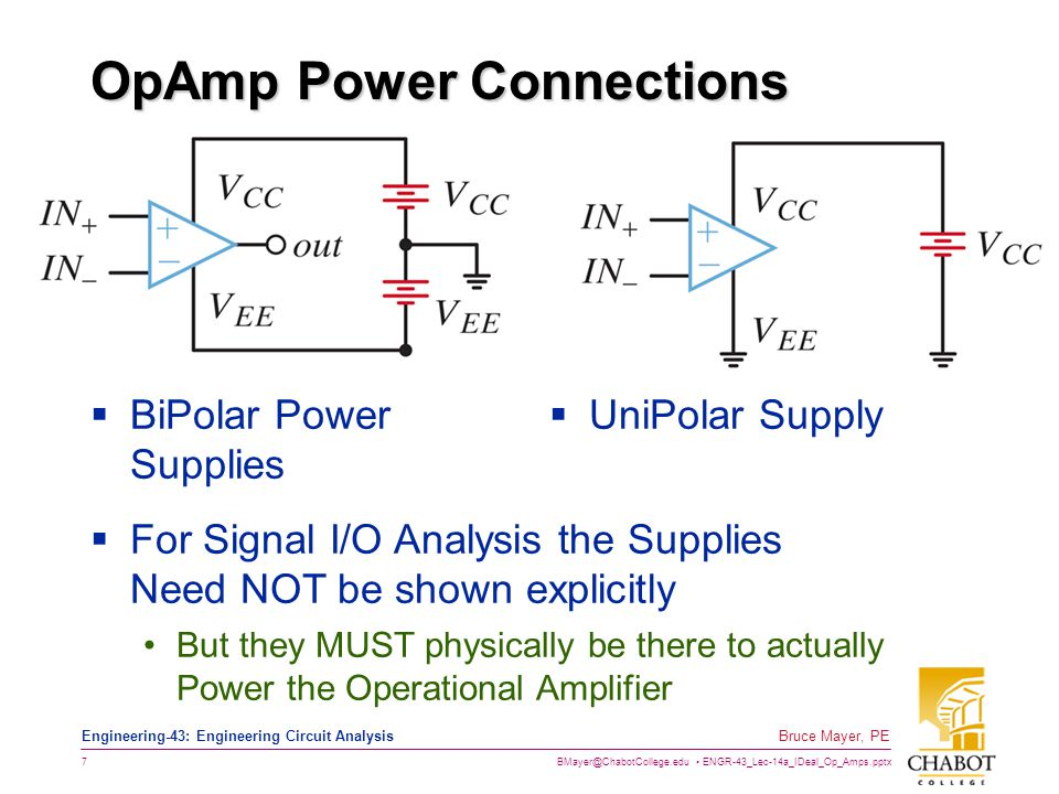 OpAmp Power Connections