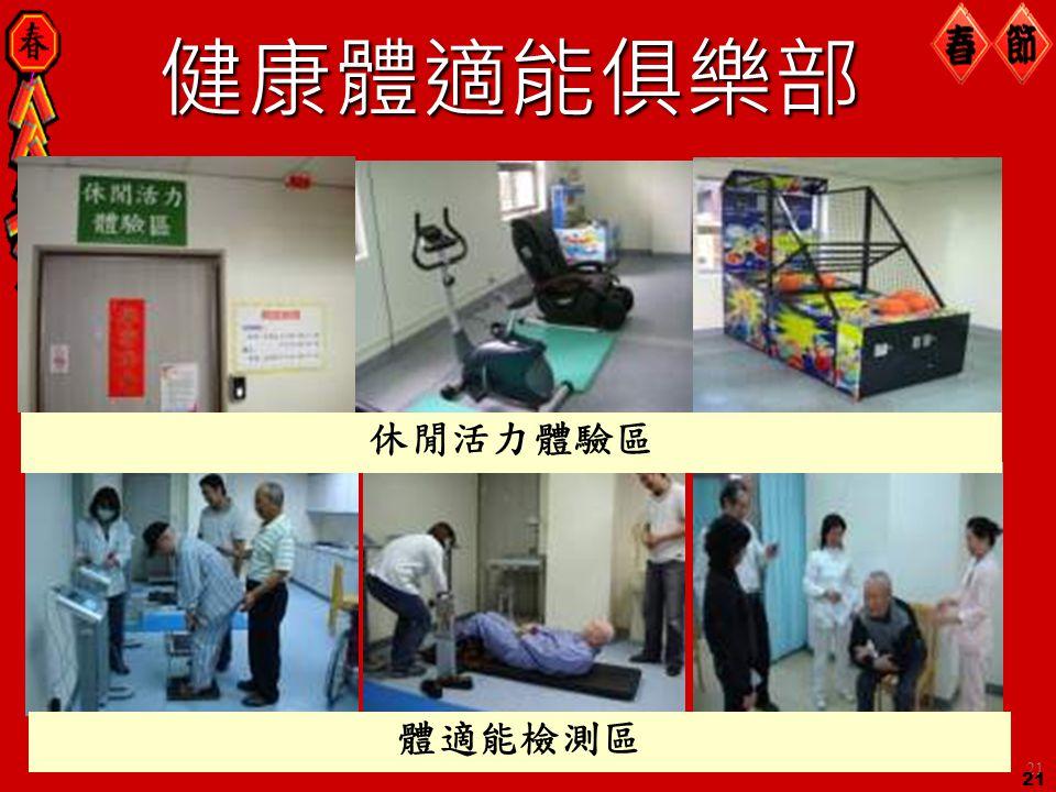 健康體適能俱樂部 休閒活力體驗區 體適能檢測區 21